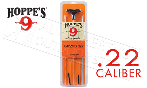 Hoppes Cleaning Rod for .22 Caliber, 3-Piece Aluminum #3PA22