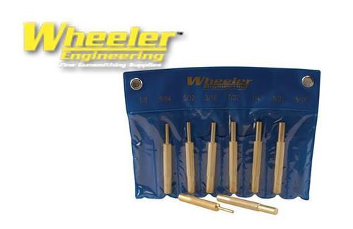 WHEELER 8-PIECE BRASS PUNCH SET #780194