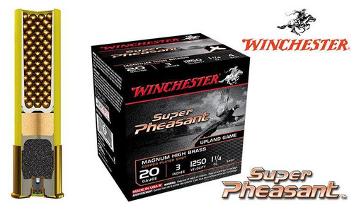 "WINCHESTER SUPER PHEASANT SHELLS, 20 GAUGE -3"" COPPER PLATED 4/5/6 SHOT, BOXES OF 25"
