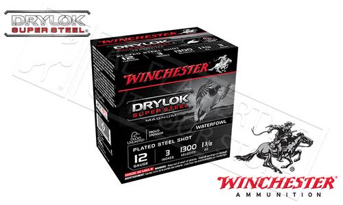 "WINCHESTER DRYLOK SUPER STEEL WATERFOWL SHELLS,12 GAUGE - 3"", #1 OR #3 1-3/8 OZ. 1265FPS, BOX OF 25"