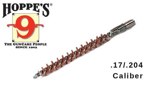 Hoppe's Phosphor Bronze Brush Rod-End, .17/.204 Caliber #1302P