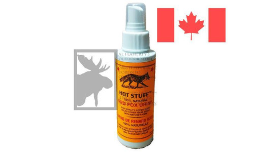 Huntmaster Hot Stuff Red Fox Urine Cover Scent, Natural 100ml Spray Bottle