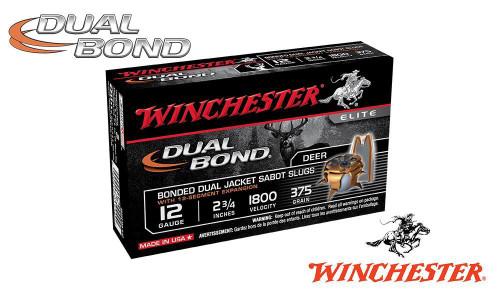"Winchester Supreme Elite Dual Bond Sabot Slugs 12 Gauge 2-3/4"", 375 Grain, 1800 fps, Box of 5"