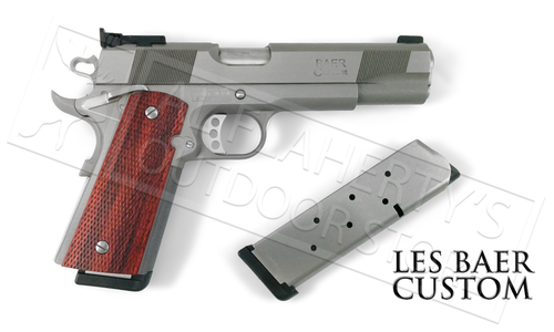 "Les Baer 1911 Premier II 5"" Model, Stainless Steel 45ACP With Fiber Optic Front Sight"
