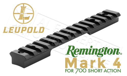 Leupold Mark 4 Remington 700 SA 1-Piece 20-MOA Steel Base #170744