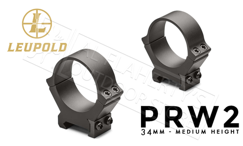 Leupold PRW2 Scope Rings - 34mm Medium Height #174086