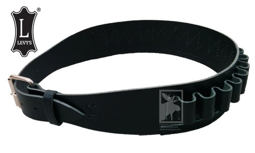 Levy's Leathers Shell Carrier Belt - 12 Gauge, Various Sizes in Black #SV47