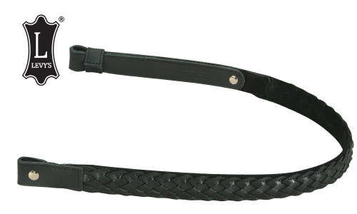 "Levy's Leathers Braided Leather Rifle Sling with Suede Backing, 31""-35"", Black #SN7BS-BLK/BLK"