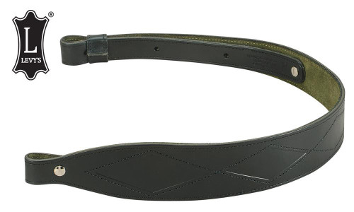 """Levy's Leathers Diamond Leather Sling, 28"""" - 36"""" Black #SN25-BLK"""
