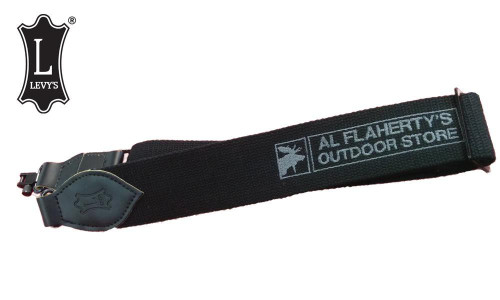 Levy's Leathers Flahertys Promo Cotton Web Sling with Swivels, Black #S8CS-BLK-LOGO
