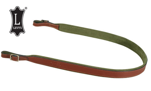 """Levy's Leathers Leather & Suede Rifle and Shotgun Sling, 38"""", Walnut #SN94-WAL"""