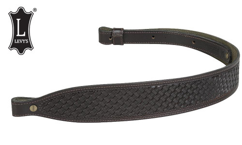 "Levy's Leathers Leather Cobra Rifle Sling, 29"" - 38"" Black #SN20T02-BLK"