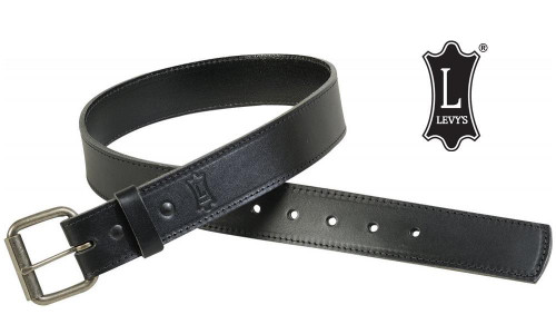 Levy's Leathers Ltd. Black Leather Belt in Black, Various Sizes #B1
