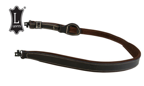 """Levy's Leathers Suede Backed Easy-Slide Rifle Sling, 32""""-39"""", Dark Brown #SD96-2-DBR"""