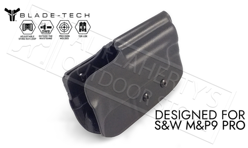 Blade-Tech Holster Classic OWB for S&W MP9 PRO with TekLok and ASR #HOLX000833701009