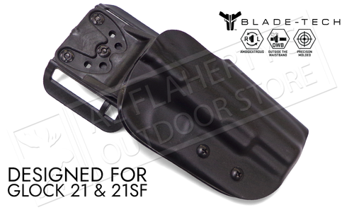 Blade-Tech Original Holster for Glock 21 and 21SF Pistols, Right-Handed D/OS with ASR Mount #HOLX000815229718