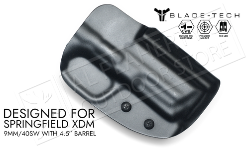 """Blade-Tech Original Holster for Springfield XMD 9mm with 4.5"""" Barrels, Right-Handed with TekLok Mount #HOLX000884502591"""