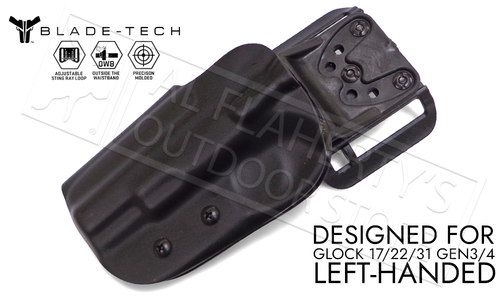 Blade-Tech Original Holster for the Glock 17 22 and 31 Gen 3/4, Left-Handed D/OS with ASR Mount #HOLX000869948279