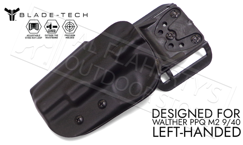 """Blade-Tech Original Holster for Walther PPQ M2 5"""", Left-Handed D/OS with ASR Mount #HOLX000889032102"""