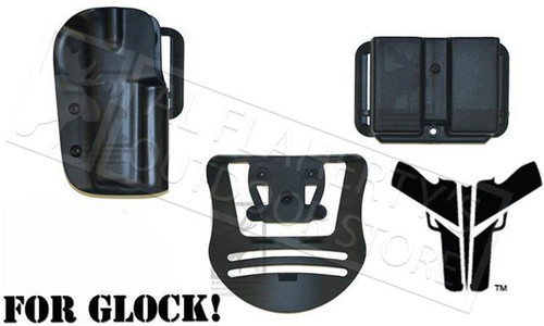 Blade-Tech Original IDPA Left Handed Competition Shooter's Pack for Glock 17/22 #HOLX0086IDPAPKO0080BLKLH