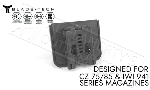 Blade-Tech Signature Double Mag Pouch CZ 75 for 9mm and 40sw Magazines with TekLok Mount #AMMX0024GDS940TLBLK