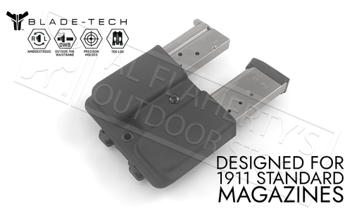Blade-Tech Signature Double Mag Pouch for 1911 Series Magazines with TekLok Mount #AMMX00241911SSTLBLK-1