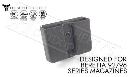 Blade-Tech Signature Double Mag Pouch for Beretta 92 and 96 Series Magazines with TekLok Mount #AMMX0024GDS940TLBLK-1