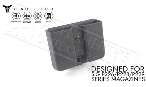 Blade-Tech Signature Double Mag Pouch for SIG Sauer P226 Series Magazines with TekLok Mount #AMMX0024GDS940TLBLK-10