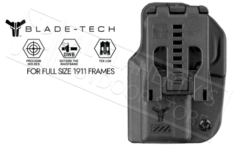 "Blade-Tech Signature OWB Holster for 5"" 1911 Pistols #HOLX0008S1911GRTLBLK"