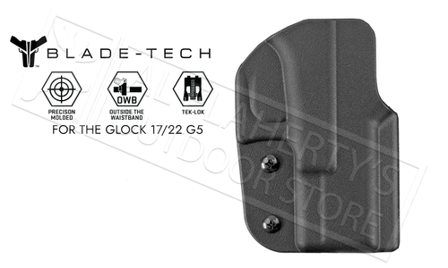 Blade-Tech Signature OWB Holster For Glock 17 and 22 Gen 5 Pistols #HOLX0008SG175TLBLKRH