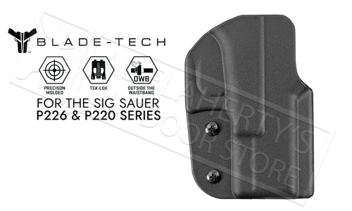Blade-Tech Signature OWB Holster For SIG P226 and P220 Pistols #HOLX0008SS2026TLBLKRH