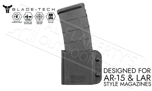 Blade-Tech Signature Single Mag Pouch for AR15 with TEKLOK #AMMX0074AR15IMTLMVBLKRH