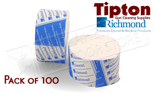 TIPTON ACTION CLEANING SWABS BY RICHMOND DENTAL, PACK OF 100 #115373