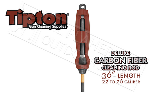 "TIPTON DELUXE CARBON FIBER CLEANING ROD .22-.26 CALIBER 36"" #430886R"
