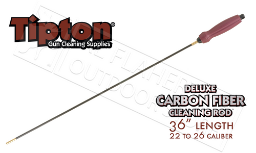 """TIPTON DELUXE CARBON FIBER CLEANING ROD .22-.26 CALIBER 36"""" #430886R"""
