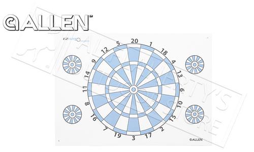 "Allen Archery Game Dartboard, 17""x24"" #2022"