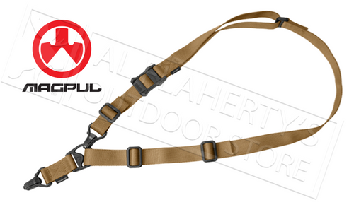 MAGPUL MS3 SLING GEN2, SINGLE-POINT OR TWO-POINT ADJUSTABLE, FLAT DARK EARTH #MAG514-FDE