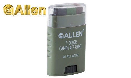 Allen Color Camo Face Paint Stick, 3 Color #6113