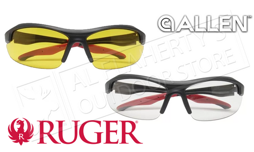 Allen Core Ballistic Shooting Glasses in Clear or Yellow #2787