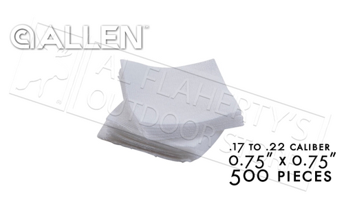 """Allen Cotton Cleaning Patches 0.75"""" Pack of 500 #70741"""