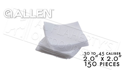 "Allen Cotton Cleaning Patches 2.0"", Pack of 150 #70721"
