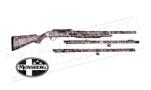 "MOSSBERG 500 3-BARREL COMBO 12 GAUGE, 3"" CHAMBER, 24"" RIFLED, 24"" TURKEY, 28"" WATERFOWL BARRELS #53341"