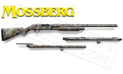 "MOSSBERG 535 3-BARREL COMBO, 12 GAUGE, 3.5"" CHAMBER, 24"" TURKEY, 28"" WATERFOWL, 24"" RIFLED BARREL #62440"