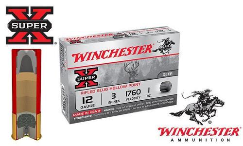 "Winchester Super X Rifled Slugs 12 Gauge 3"" Box of 5"