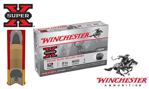 "Winchester Super X Rifled Slugs 12 Gauge 2-3/4"" Box of 5"