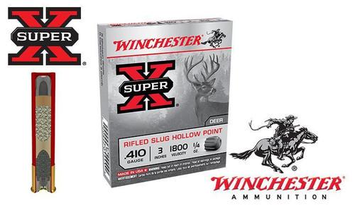 "Winchester Super X Rifled Slugs Hollow Point .410 Gauge 2-1/2"" Box of 5"