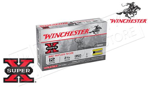 "Winchester Super X Sabot Slugs 12 Gauge 2-3/4"", 1 oz., 1350 fps, Box of 5 #XRS12"