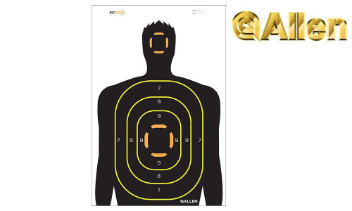 "Allen EZ See Silhouette Target, 18"" x 12"", Pack of 5 #15229"