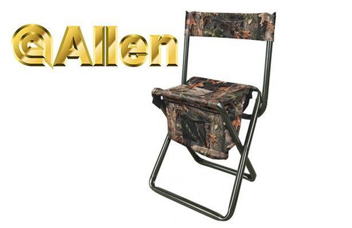 Allen Folding Stool w/Back & Storage #5810