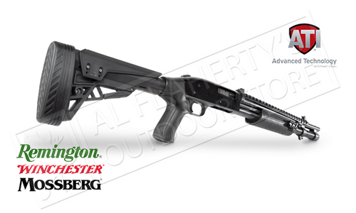 ATI T3 SHOTGUN STOCK FOR REMINGTON MOSSBERG AND WINCHESTER DESTROYER GRAY, #B.1.40.2007